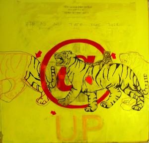 tigre cm 150 x 150